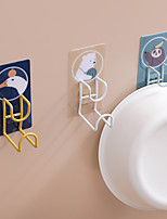 cheap -4 PCS Cartoon Washstand From Stainless Steel Punching Receive Shelf Kitchen Bathroom Hanging Towel Rack Mounts Basin