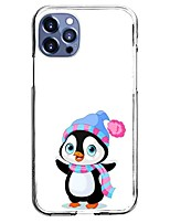cheap -Penguin Case For Apple iPhone 12 iPhone 11 iPhone 12 Pro Max Unique Design Protective Case with Screen Protector Shockproof Back Cover TPU