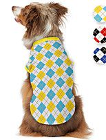 cheap -Dog Shirt / T-Shirt Plaid Printed Classic British Casual / Daily Dog Clothes Puppy Clothes Dog Outfits Breathable Yellow Red Blue Costume for Girl and Boy Dog Polyster S M L XL