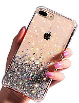 "cheap -compatible with iphone 8 plus case/iphone 7 plus case luxury bling glitter for girls women transparent flexible soft silicon cover cute phone case designed for iphone 7/8 plus 5.5"" clear white"