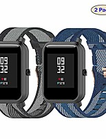 cheap -fit for samsung active 2 watch band 44mm 40mm watch bands for women men, gear s2 classic 20mm nylon replacement band straps wristbands fit for garmin forerunner 245, vivoactive 3 music (gray blue)