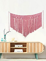 cheap -Hand Woven Macrame Wall Tapestry Bohemian Boho Art Decor Blanket Curtain Hanging Home Bedroom Living Room Decoration Nordic Handmade Tassel Cotton Pink