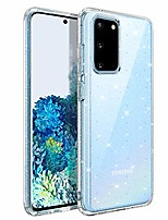 cheap -galaxy s20 case samsung s20 case sunflower flowers crystal clear slim thin flexible soft tpu cover protective anti-slip phone cases for samsung galaxy s20 6.2-inch transparent