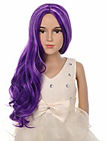 cheap -kids wigs purple costume cosplay halloween wigs for child girls (purple)