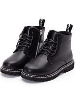 cheap -Boys' Girls' Boots Combat Boots PU Little Kids(4-7ys) Big Kids(7years +) Walking Shoes White Black Fall Winter / Booties / Ankle Boots