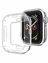 cheap -compatible with apple watch case series 5 series 4 40mm, new iwatch tpu protective cover bumper compatible for apple watch series 5 series 4 (40mm-clear)