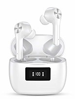 cheap -wireless earbuds bluetooth 5.0 headphones in-ear stereo wireless earphones ip5x waterproof 30h playtime bluetooth earbuds touch control with microphone (black) (white)