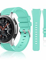 cheap -compatible with samsung galaxy watch 46mm bands/gear s3 frontier, classic watch bands/galaxy watch 3 bands 45mm, 22mm soft silicone bands bracelet sports strap for men & women. (teal)