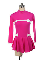 cheap -Figure Skating Dress Women's Girls' Ice Skating Dress Red Fuchsia Spandex High Elasticity Training Competition Skating Wear Multi Color Long Sleeve Ice Skating Figure Skating / Kids