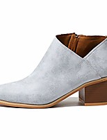 cheap -chelsea boots women vegan leather low block heeled cut out zip ladies ankle boots blue size 7.5