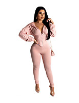 cheap -Women's Link / Chain Hoodie Solid Color Sport Athleisure Clothing Suit Long Sleeve Comfortable Everyday Use Casual / 2pcs / pack