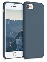 cheap -tpu silicone case compatible with apple iphone 7/8 / se (2020) - soft flexible rubber protective cover - slate grey