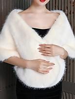 cheap -Sleeveless Capes Orlon Wedding Shawl & Wrap With Fur