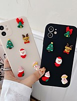 cheap -Case For Apple iPhone 12 / iPhone 11 / iPhone 12 Pro Max Shockproof Back Cover Christmas TPU