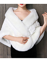 cheap -3/4 Length Sleeve Coats / Jackets Faux Fur Party / Evening Women's Wrap With Fur
