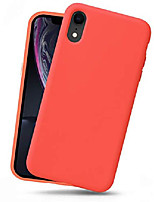 cheap -iphone xr silicone case, full body shockproof protective liquid silicone xr cases with soft microfiber lining, wireless charge pad compatible, deep red