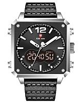 cheap -KADEMAN Men's Sport Watch Digital Tonneau Classic Water Resistant / Waterproof Analog - Digital Rose Gold Black / Silver Black / Yellow / Two Years / Leather