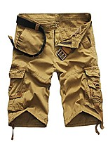 cheap -fashion shorts pants mens casual pocket beach work casual short trouser khaki