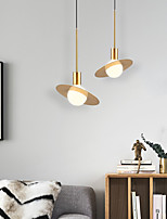 cheap -22cm LED Pendant Light Modern Nordic Globe Design Gold Planet Design Metal Empire Mini Electroplated Christmas Decoration 110-240 V