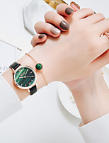 cheap -Women's Quartz Watches Quartz Stylish Beads Casual Casual Watch Analog Black Red Green / PU Leather