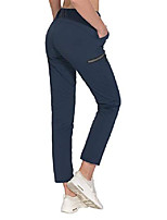 cheap -women's ultra-stretch quick dry lightweight ankle pants drawstring active travel hiking navy s