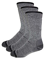cheap -3 pack merino wool boot cut hiking & outdoor socks made in usa - full cushion (x large, grey/black)