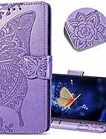 cheap -samsung galaxy s10 wallet case, embossed butterfly pattern flip card set cash leather case, advanced pu body case for samsung galaxy s10 (2019). sd flower butterfly - lavender