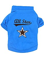 cheap -dog apparel, spring pet t-shirt all star puppy sweatshirts small dog party clothes (blue, s)