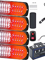 cheap -led warning lights, 4pcs emergency warning caution hazard construction ultra slim sync feature car truck with main control box surface mount(white red)