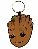 cheap -guardians of the galaxy 2 groot keyring (one size) (brown)