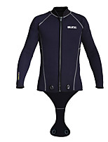 cheap -SLINX Men's Women's Wetsuit Top 3mm SCR Neoprene Top Breathable Quick Dry Long Sleeve Front Zip - Swimming Diving Surfing Patchwork Autumn / Fall Spring / Stretchy