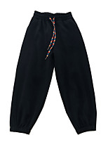 cheap -Women's Basic Comfort Daily Going out Jogger Sweatpants Pants Solid Colored Full Length Pocket Drawstring Black Dark Gray