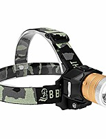 cheap -headlamp - waterproof adjustable headband head lamp - bright light usb rechargeable led flashlight - outdoor camping accessories - emergency night work light (black)