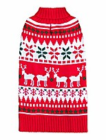 cheap -chirstmas dog sweaters snowflake reindeer dog sweater with leash hole ugly dog holiday sweater cat sweater