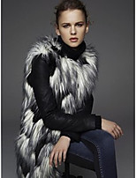 cheap -Long Sleeve Coats / Jackets Faux Fur Office / Career Women's Wrap With Solid