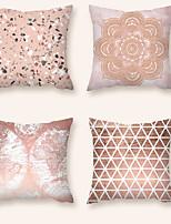 cheap -Cushion Cover 4PC Short Plush Soft Decorative Square Throw Pillow Cover Cushion Case Pillowcase for Sofa Bedroom 45 x 45 cm (18 x 18 Inch) Superior Quality Mashine Washable
