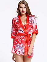 cheap -Women's Print Suits Nightwear Geometric Red One-Size