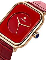 cheap -WWOOR Women's Quartz Watches Quartz Stylish Elegant Water Resistant / Waterproof Analog White Black Purple / Two Years / Silicone / Japanese