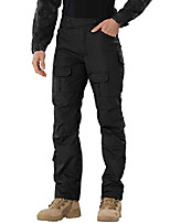 cheap -men's tactical cargo pants rip-stop stretch straight relaxed fit work pant black