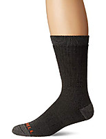 cheap -men's 1 pack cushioned heavyweight hiker crew socks, black, shoe size: 9.5-12