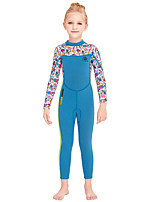 cheap -Girls' Full Wetsuit 2.5mm SCR Neoprene Diving Suit Windproof Quick Dry Long Sleeve Back Zip Patchwork Autumn / Fall Spring Summer / Kids