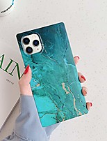 cheap -square marble iphone 11 pro max case, slim thin glossy soft flexible shockproof square edges fashion phone case bumper cover for apple iphone 11 pro max 6.5 inch (green marble)