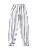 cheap -Women's Sporty Basic Comfort Daily Going out Jogger Sweatpants Pants Solid Colored Full Length Pocket White Black Light gray