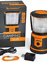 cheap -rechargeable led camping lantern, 400 lumen, waterproof, shockproof, with power bank, orange