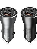 cheap -Remax RCC107 Car Charger 1USB A Type A 36W Power 2 Ports Fast Charge Quick To  Phone 12V-24V Black & Silver Color To Choice 1PCS AL ABS Meterials