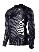 cheap -SLINX Men's Rash Guard Top Breathable Quick Dry Long Sleeve Swimming Surfing Water Sports Patchwork Autumn / Fall Spring / Stretchy