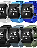cheap -band compatible with garmin forerunner 35, soft silicone replacement watch band strap for garmin forerunner 35 smart watch (6-colors/3(black buckle))