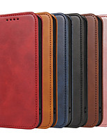 cheap -Case For Apple iPhone 12 / iPhone 11 / iPhone 12 Pro Max Shockproof Full Body Cases Solid Colored PU Leather