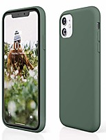 "cheap -case for iphone 11, iphone 11 silicone case, slim full body protective iphone 11 case, soft gel rubber phone case for iphone 11 6.1"", 2019 (pine green)"