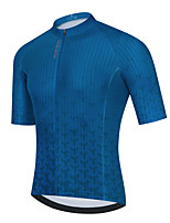 cheap -Men's Short Sleeve Cycling Jersey Dark Blue Bike Top Mountain Bike MTB Road Bike Cycling Breathable Quick Dry Sports Clothing Apparel / Stretchy / Athletic